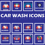 Blink car wash. Blink color car wash icon in white stripe square royalty free illustration