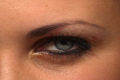 Blink eye. Stock video of very beauty glamour woman blink eye stock video