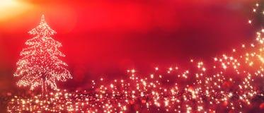 blinkad bakgrundsjulred Royaltyfri Bild