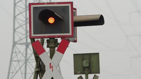 Blinkadrevkorsning tecken arkivfilmer