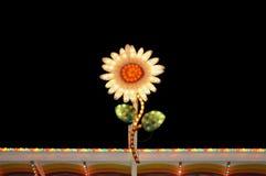 Blinkande ljus för elektrisk blomma Arkivbild