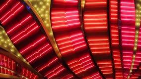 Blinkande ljus för neon av den Las Vegas kasinot lager videofilmer