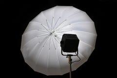 Blinken und Regenschirm Stockfoto