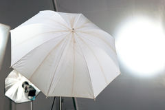 Blinken und Regenschirm Stockfotografie
