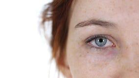 Blinken von einem Auge jungem Mädchen Stockfotografie