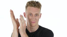 Blinkenaugen des jungen Mannes, Abschluss oben Lizenzfreies Stockfoto