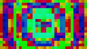Blinkende bunte Pixel vektor abbildung