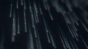 Blinkende Computersymbole auf dem Schirm IT-BEZOGENer loopable Bewegungshintergrund stock video