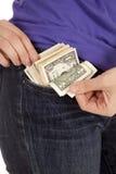 Blinkende Geldtasche Stockbilder