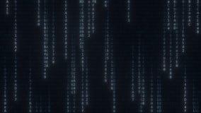 Blinkende hexadezimale Symbole In Verbindung stehender loopable Bewegungshintergrund des Computers stock video footage