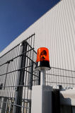 Blinkende Leuchte an der Fabrik Lizenzfreies Stockfoto