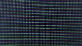 Blinkende Pixel von Fernsehschirm stock video footage