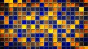 Blinkendes blaues Gelb quadriert abstrakten Hintergrund Stockfotografie