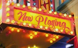 Blinkendes Zeichen am Karneval Lizenzfreies Stockbild