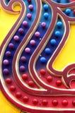 Blinkenhelles Rotes und blau Lizenzfreie Stockfotos
