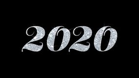 2020 Blinkentext-Wunsch-Partikel-Grüße, Einladung, Feier-Hintergrund