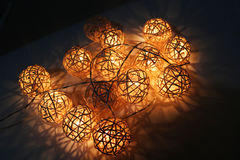 Blinker light in a small ball weave. Stock Photos