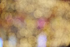 Blinking blurring bokeh lights royalty free stock photography