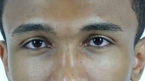 Blinking Eye Man, Close Up stock footage
