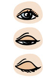 Blinking eye Stock Image