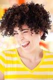 Blinking girl fun Royalty Free Stock Images