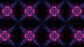 Blinking and glowing multi color kaleidoscope pattern royalty free illustration