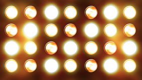 Blinking Light Curtain Flowing Down Stock Photo