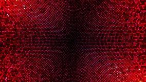 Blinking lights board circle loop background. Red version vector illustration