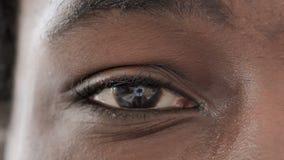 Blinking One Eye of African Man. The Blinking One Eye of African Man, high quality stock footage