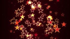 Blinking Retro Stars Flowing random Royalty Free Stock Photo