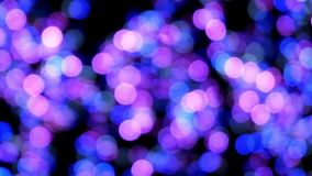 Blinking round bokeh on soft focus stock video footage