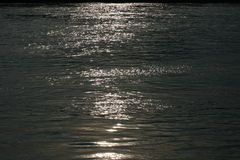 Blinking surface. This is a shot of blinking surface of river Danube in Serbia, Novi Sad Royalty Free Stock Photos