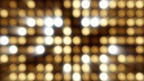 Blinklicht-Birnen-Scheinwerfer-Flutlichter Vj führten Wand-Stadium geführten Anzeigen-Blinklicht-Bewegungs-Grafik-Hintergrund Lizenzfreies Stockfoto