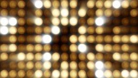 Blinklicht-Birnen-Scheinwerfer-Flutlichter Vj führten Wand-Stadium geführten Anzeigen-Blinklicht-Bewegungs-Grafik-Hintergrund Lizenzfreies Stockbild