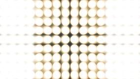 Blinklicht-Birnen-Scheinwerfer-Flutlichter Vj führten Wand-Stadium geführten Anzeigen-Blinklicht-Bewegungs-Grafik-Hintergrund Stockfotografie
