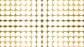 Blinklicht-Birnen-Scheinwerfer-Flutlichter Vj führten Wand-Stadium geführten Anzeigen-Blinklicht-Bewegungs-Grafik-Hintergrund Stockfotos