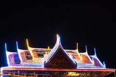 Blinklichter auf dem Dachtempel Stockfotos