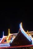 Blinklichter auf dem Dachtempel Stockbilder