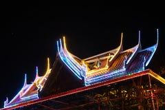 Blinklichter auf dem Dachtempel Lizenzfreies Stockbild