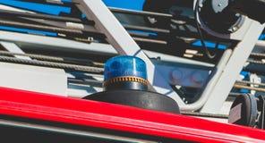 Blinklichter eines Befreiungsfahrzeugs Stockbild