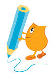Blinky writing Stock Image