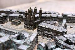 blint stadsöversiktsfolk Arkivbilder