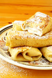 Blintzes. Cheese blintzes are the traditional Jewish meal for the festival of Shavuot, when dairy meals are traditionally eaten Stock Image