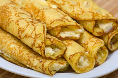 Blintzes (panquecas do queijo) Fotografia de Stock Royalty Free