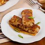 Blintzes or Russian Pancakes Stock Images