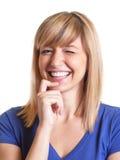 Blinzeln der Frau mit dunklen Augen Lizenzfreies Stockfoto