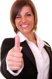 Blinzeln der Geschäftsfrau Lizenzfreies Stockfoto
