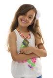 Blinzeln des attraktiven jungen Mädchens mit schönem Lächeln Lizenzfreie Stockfotos