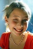 Blinzeln des jungen Mädchens Stockbild