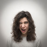 Blinzeln des Mädchenporträts Stockfotografie